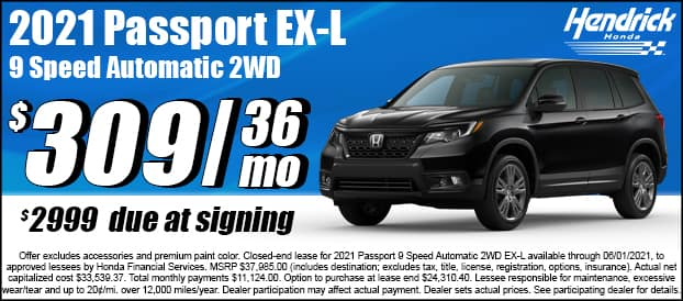 2021 Passport 9 Speed Automatic 2WD EX-L