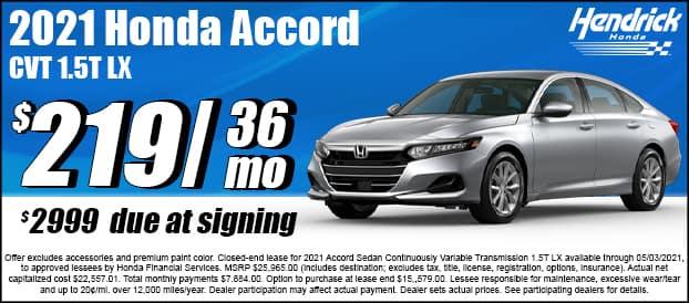 2021 Accord CVT 1.5T LX