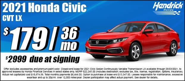 2021 Civic CVT LX