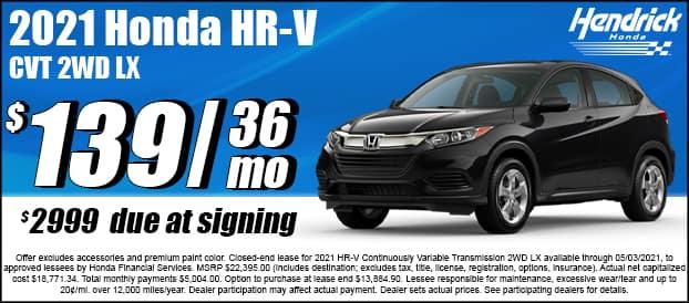 2021 HR-V CVT 2WD LX