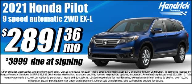 2021 Pilot 9 Speed Automatic 2WD EX-L