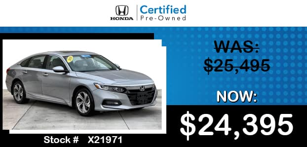 Certified Pre-Owned 2018 Honda Accord EX 1.5T