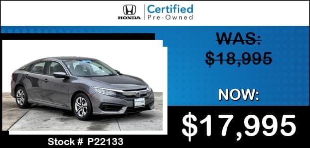 <center>2017 Honda Civic LX</center>