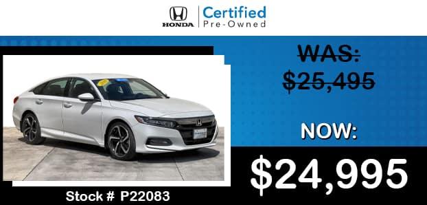 <center>2018 Honda Accord Sport 1.5T</center>