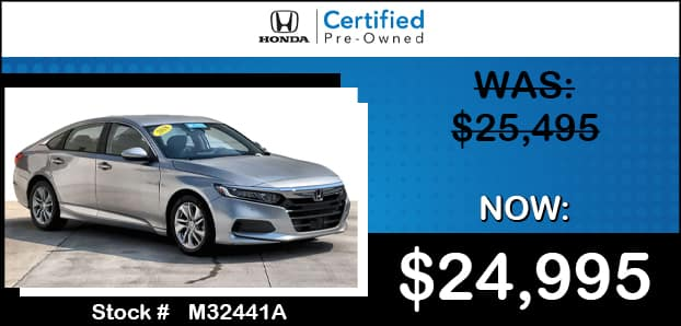<center>Certified 2018 Honda Accord LX 1.5T</center>