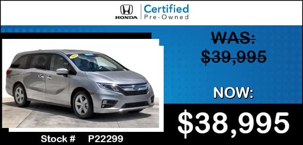 <center> Certified 2019 Honda Odyssey EX-L w/Navi/RES </center>