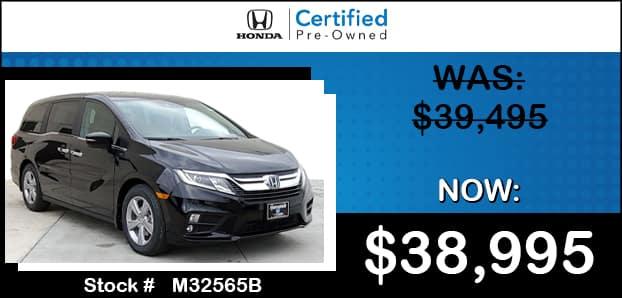 <center> Certified 2020 Honda Odyssey EX-L </center>