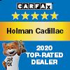 Holman Cadillac Carfax 2020 Top Rated Dealer Award