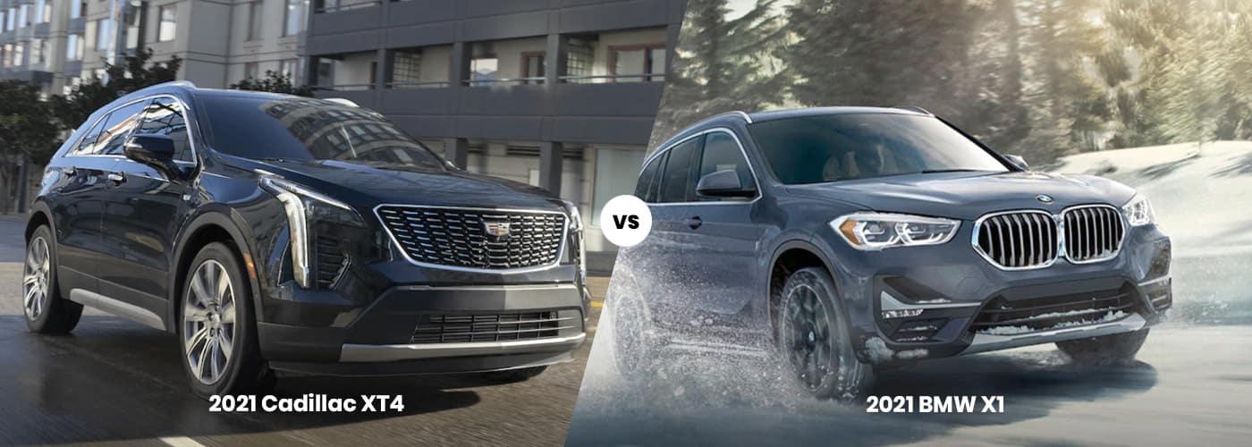 2021 Cadillac XT4 vs. 2021 BMW X1
