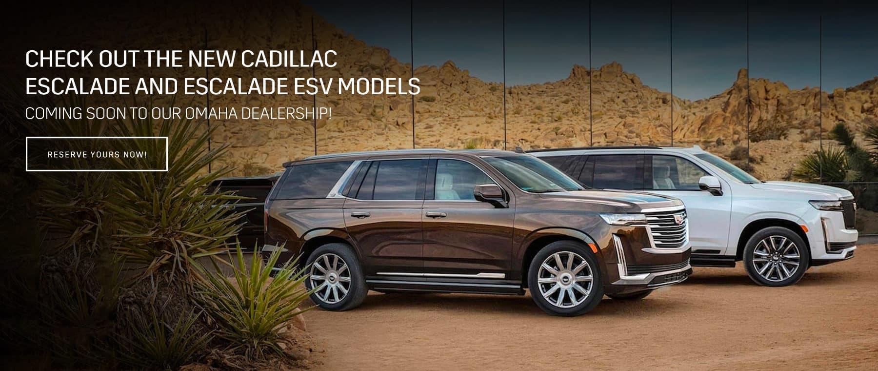 Check out the new Cadillac Escalade and Escalade ESV models