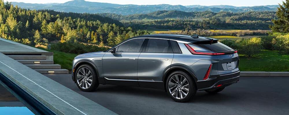 2023 Cadillac Lyriq parked near rolling hills