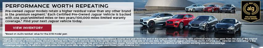 Pre-owned Jaguar models retain their value.