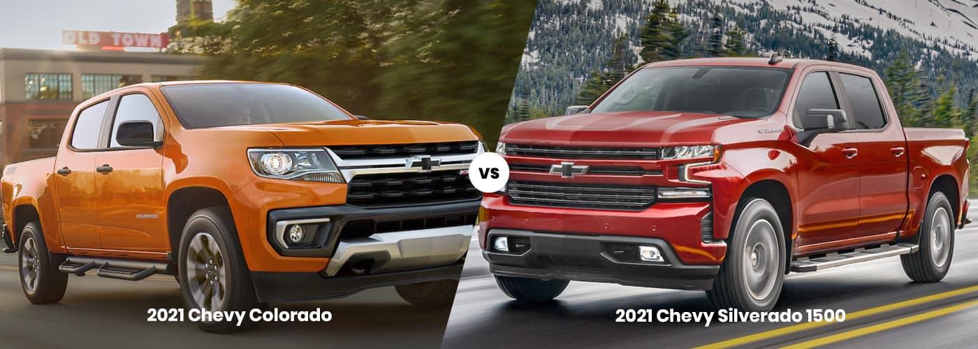 Chevy Colorad vs. Chevy Silverado