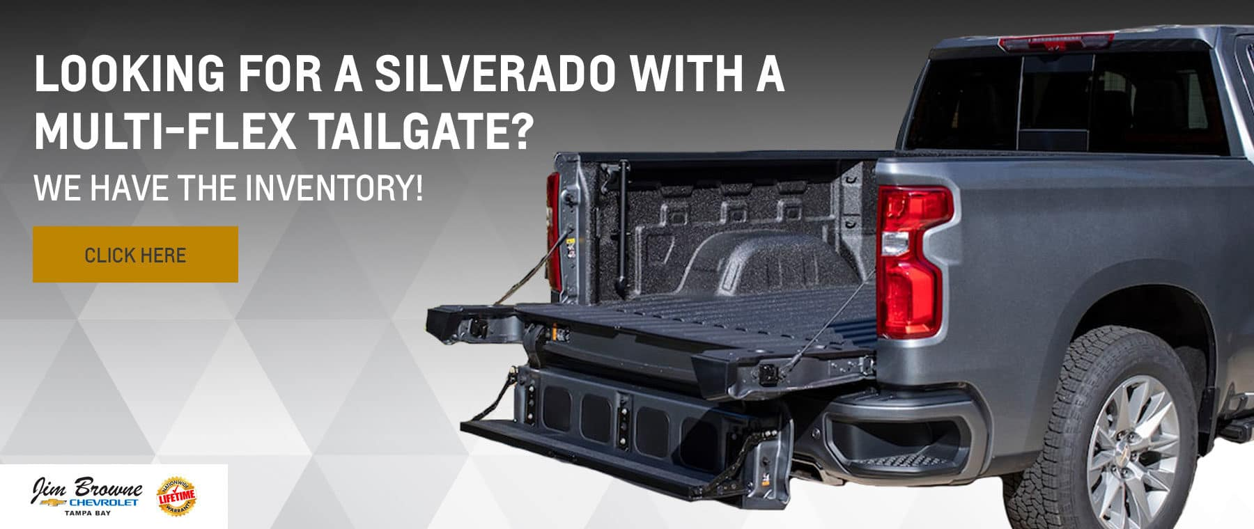 Looking for a Silverado with a Multi-Flex Tailgate?
