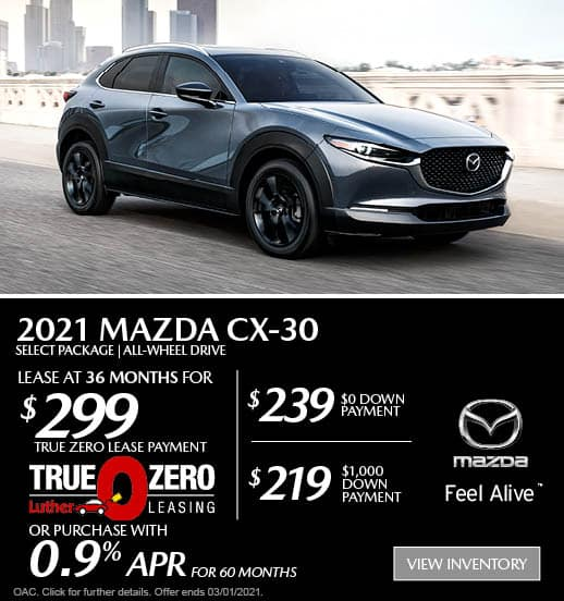 CX-30 Lease Special