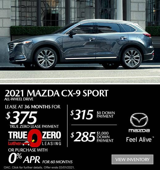 CX-9 Lease Special
