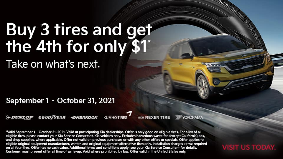Buy 3 Tires and get 4th for $1
