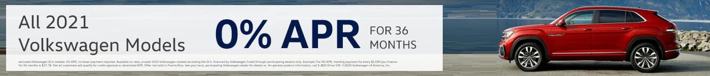 All 2021 Volkswagen Models 0% APR FOR 36 MONTHS