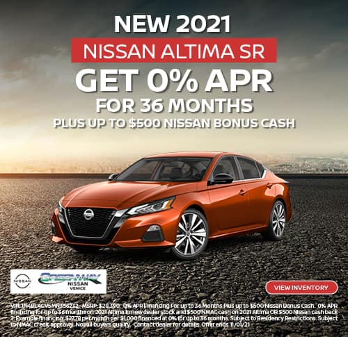 New 2021 Nissan Altima SR