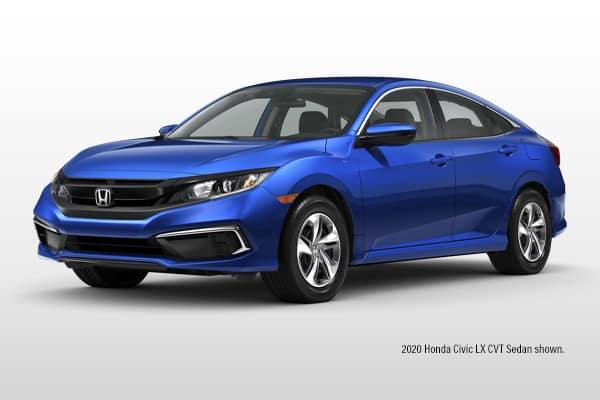 New 2021 Honda Civic LX CVT Sedan