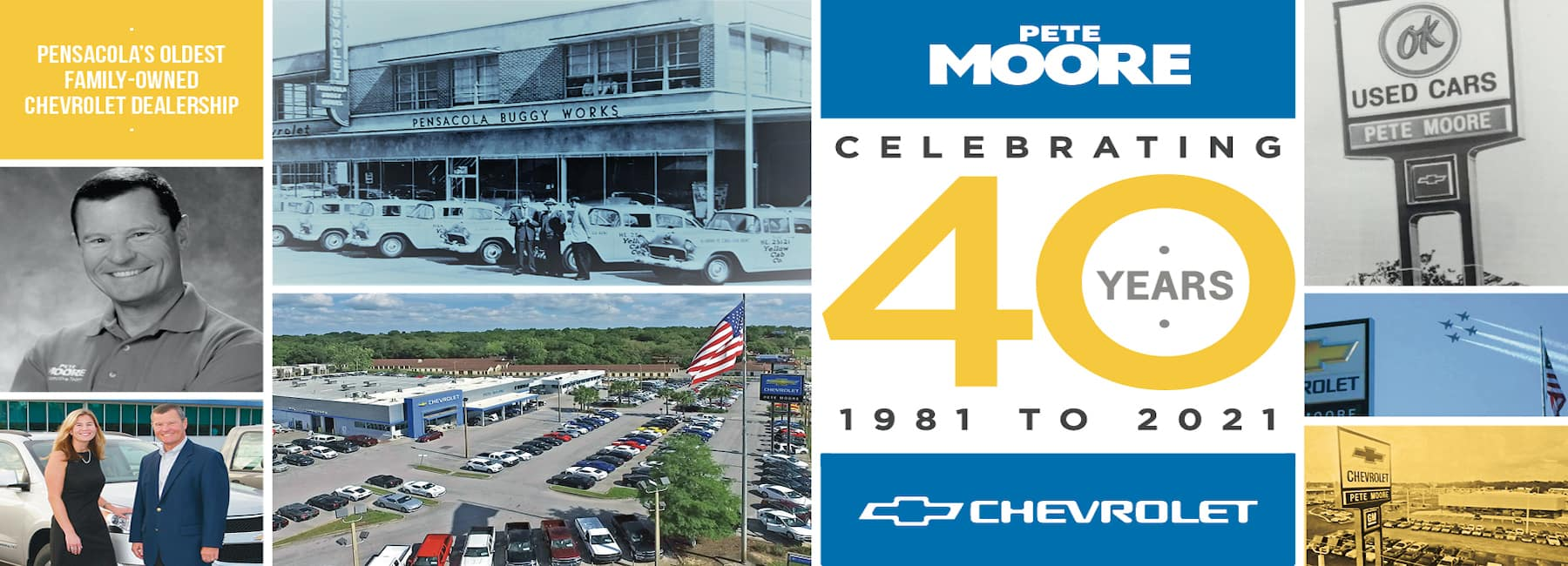 celebrating 40 years at Pete Moore Chevrolet