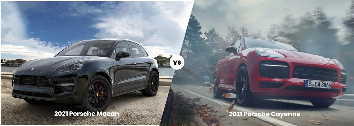 2021 Porsche Macan vs 2021 Porsche Cayenne comparison