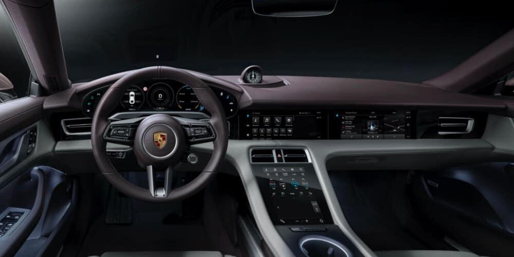 2021 Porsche taycan interior dashboard