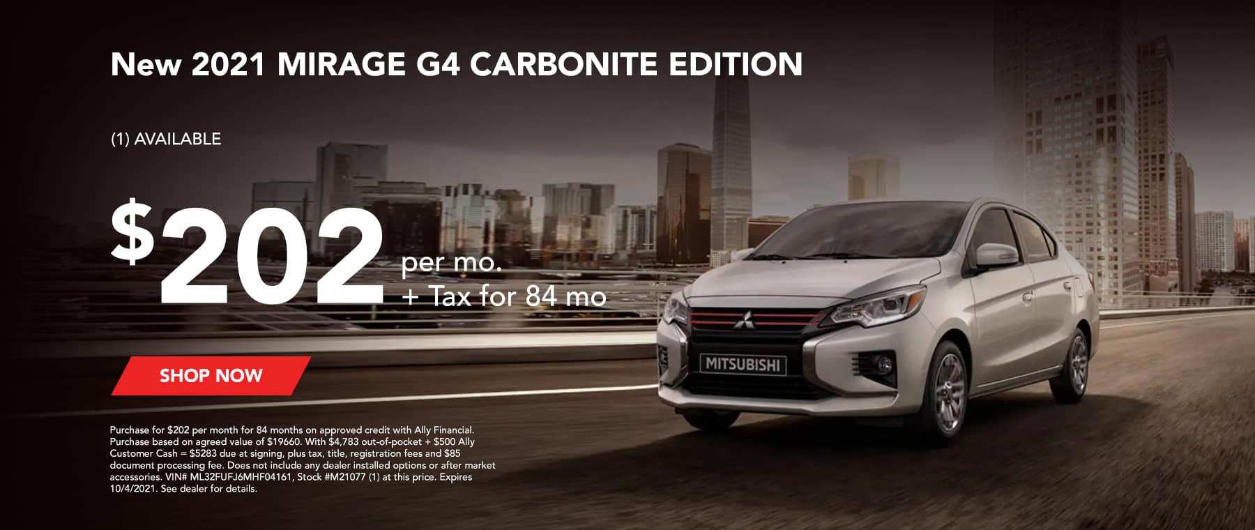New 2021 MIRAGE G4 CARBONITE EDITION (1) AVAILABLE $202 per mo. + Tax