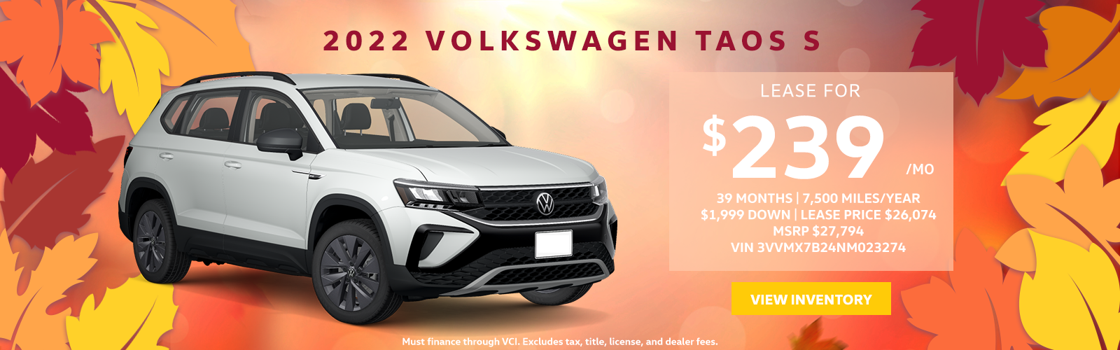 Taos S Rochester Motors October Offers