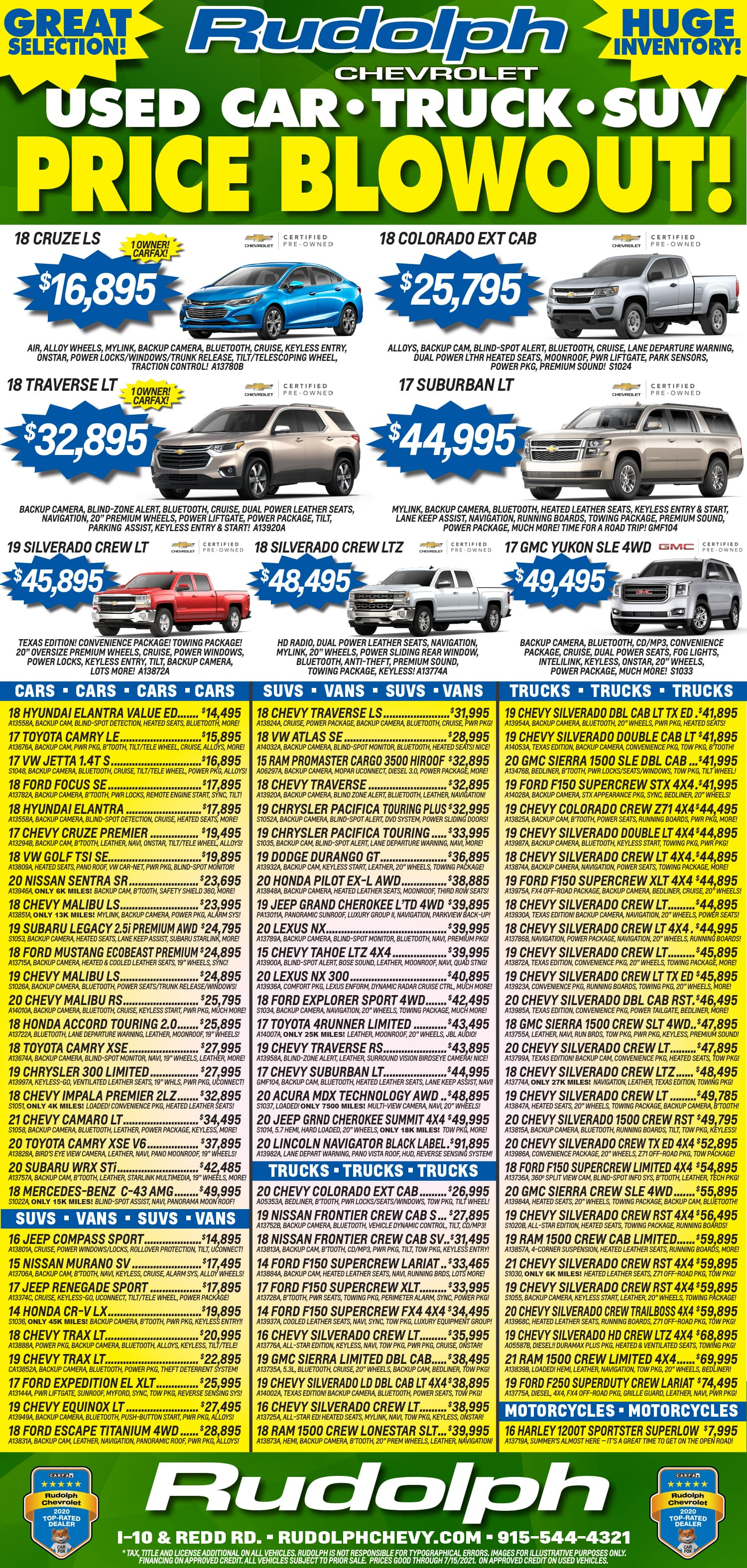 Rudolph Weekly Print Ad