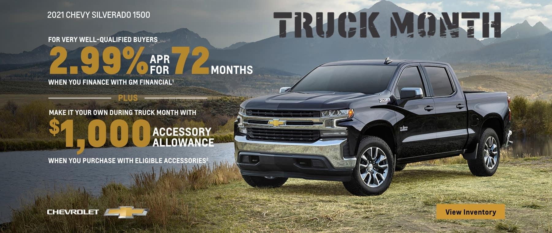 Truck Month 2021 Silverado 2.99% APR
