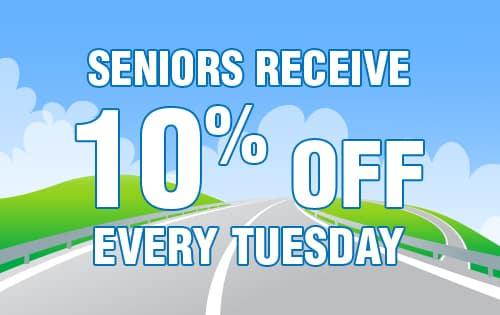 10% OFF Service - Seniors Discount