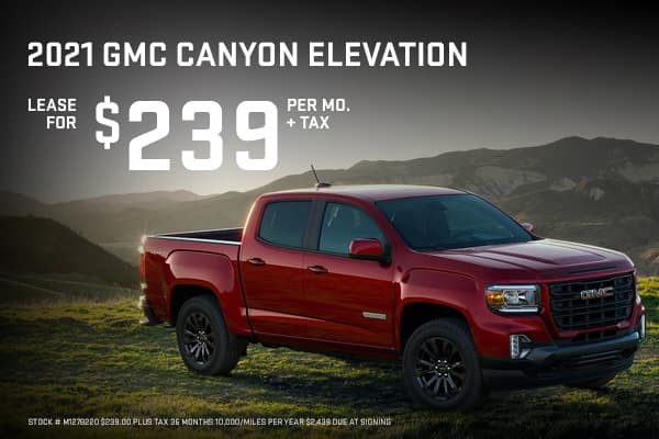 New GMC Canyon Elevation  Offers