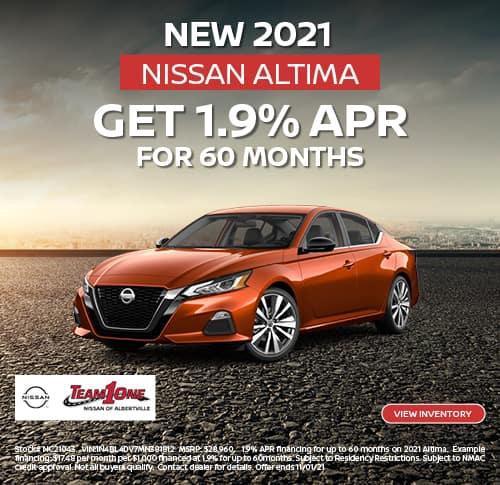 New 2021 Nissan Altima