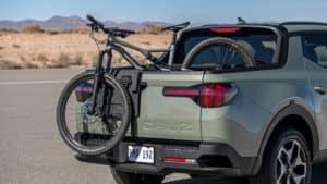 Trunk of the 2022 Hyundai Santa Cruz.