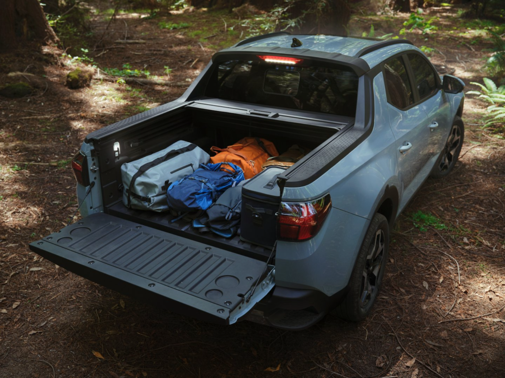 The back bed of the all-new Hyundai Santa Cruz.