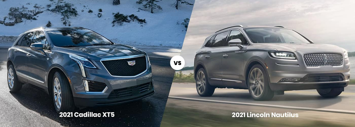 2021 Cadillac XT5 vs 2021 Lincoln Nautilus Comparison