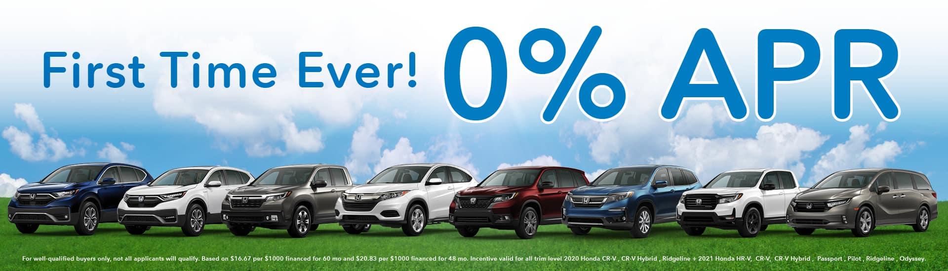 0% APR Offer | Van's Honda