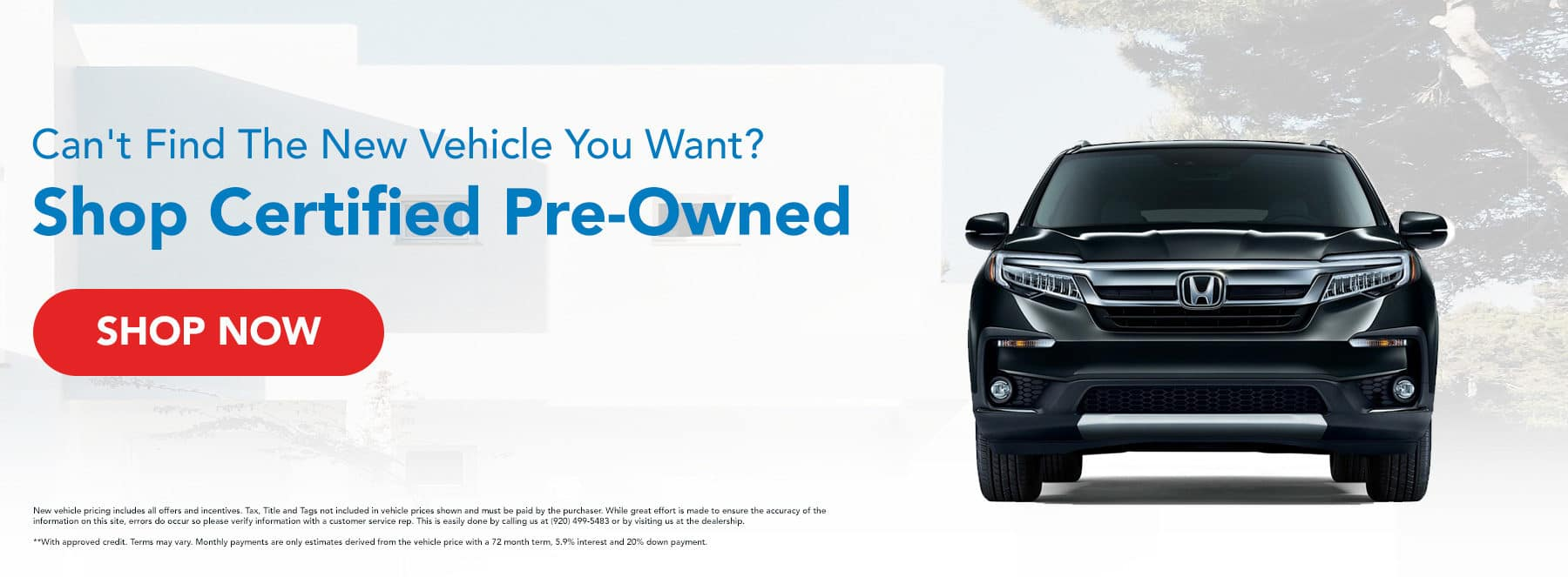 Can't Find The New Vehicle You Want? Shop Certified Pre-Owned