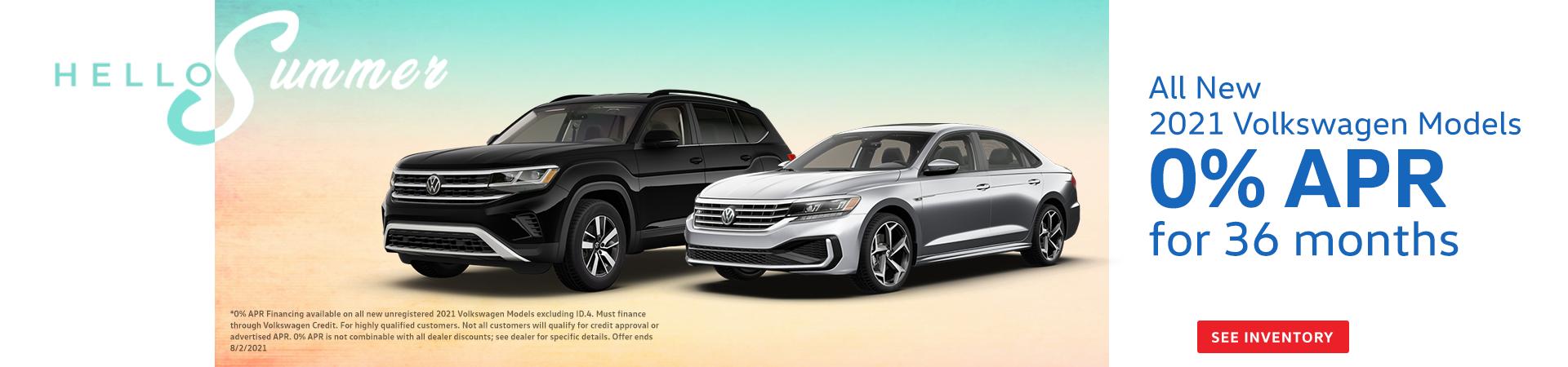 0% APR on all 2021 Volkswagen Models*